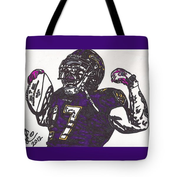 Tote Bag featuring the drawing Ray Rice 1 by Jeremiah Colley