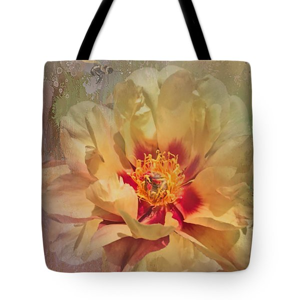 Rayanne's Peony Tote Bag by Jeff Burgess