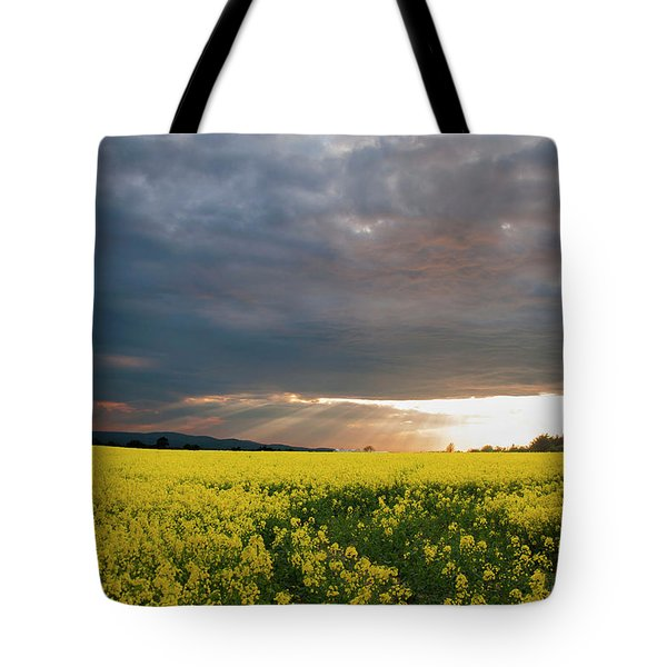 Tote Bag featuring the photograph Rays At Sunset by Rob Hemphill