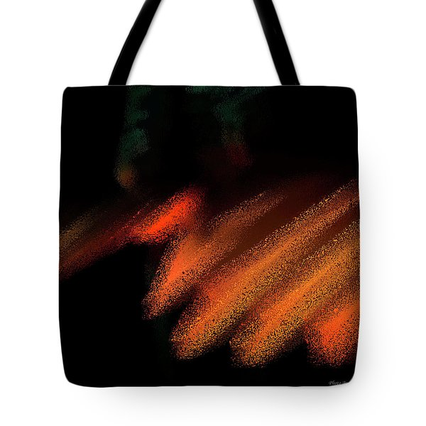Rays In Orange And Gold Tote Bag