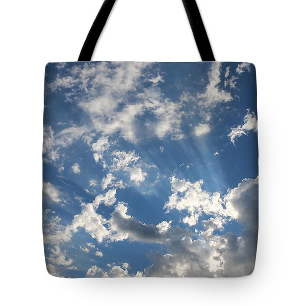Rays In The Clouds - 2  Tote Bag by Christy Pooschke