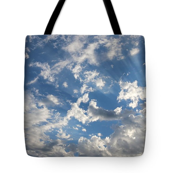 Rays In The Clouds  Tote Bag by Christy Pooschke