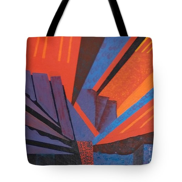 Rays Floor Cloth - Sold Tote Bag