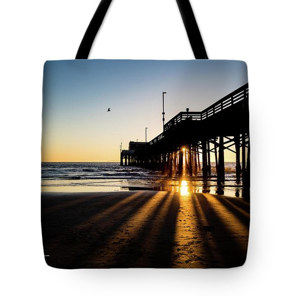 Tote Bag featuring the photograph Rays Of Evening by T A Davies
