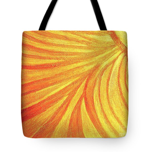 Rays Of Healing Light Tote Bag by Rachel Hannah
