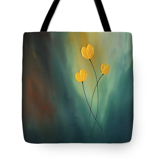 Tote Bag featuring the painting Rays Of Hope by Carmen Guedez