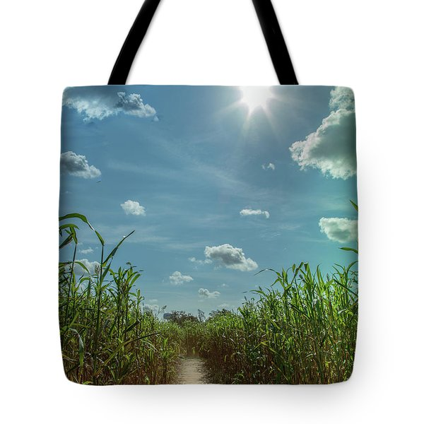 Rays Of Hope Tote Bag by Karen Wiles