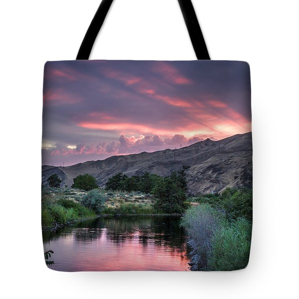 Rays Of Sunset Tote Bag by Brad Stinson