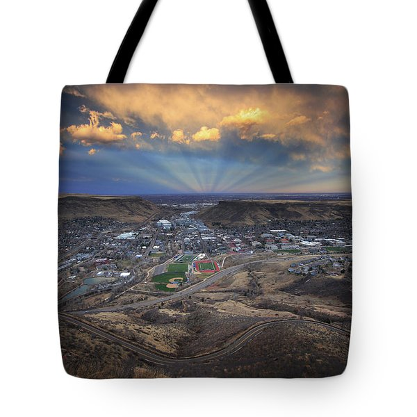 Rays Over Golden Tote Bag