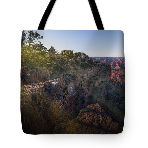 Rays Over The Canyon  Tote Bag