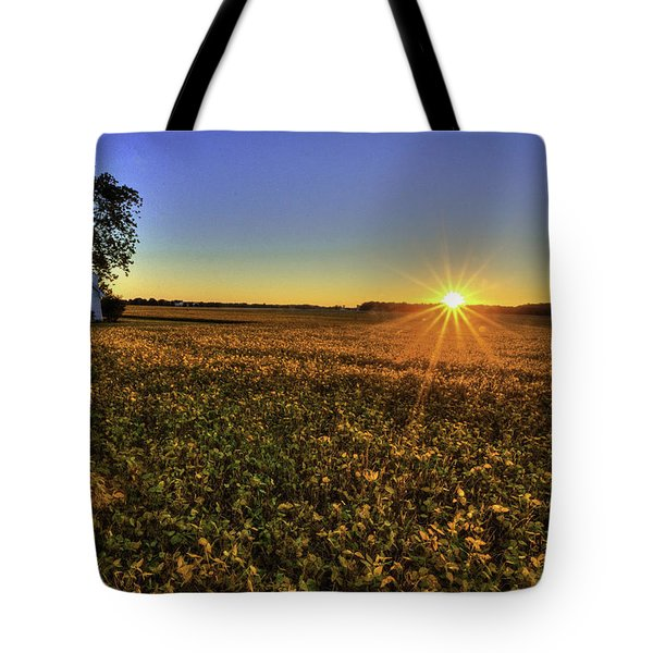 Rays Over The Field Tote Bag