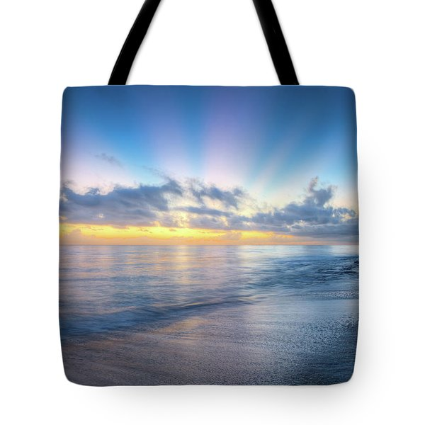 Tote Bag featuring the photograph Rays Over The Reef by Debra and Dave Vanderlaan