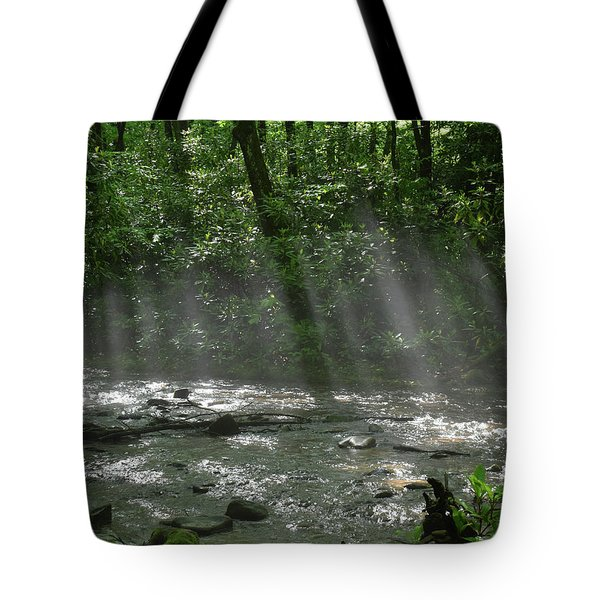Rays Through The Trees Tote Bag