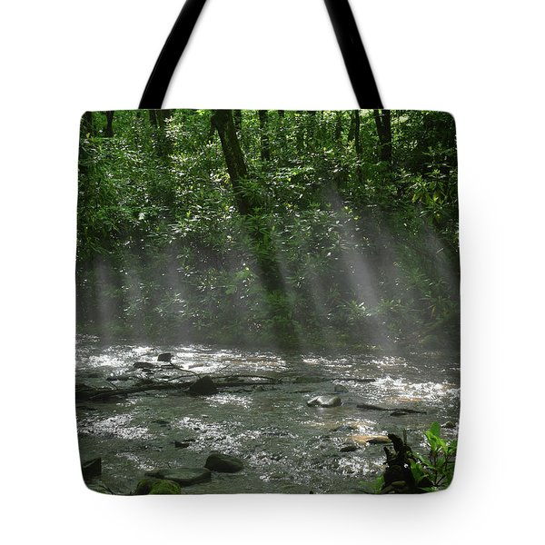 Rays Through The Trees Tote Bag