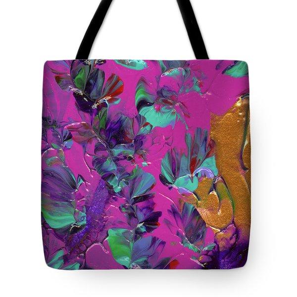 Razberry Ocean Of Butterflies Tote Bag
