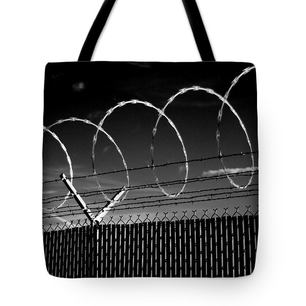 Razor Wire In The Sun Tote Bag