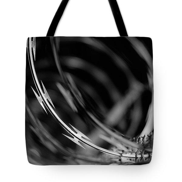 Razor Wire Up Close Tote Bag