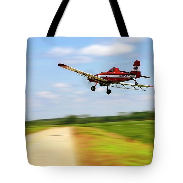 Razorback Flyby - Crop Duster - Ag Pilot Tote Bag by Jason Politte