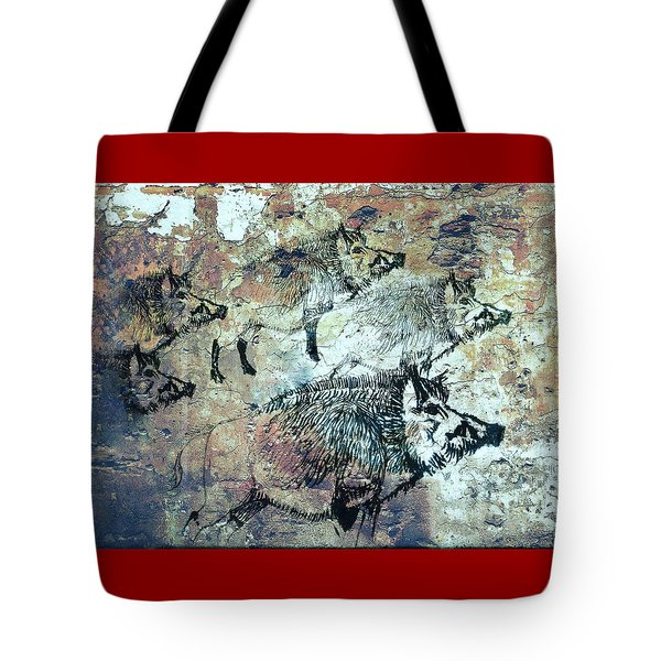 Tote Bag featuring the photograph Wild Boars by Larry Campbell