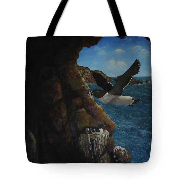 Razorbills Tote Bag by Eric Petrie