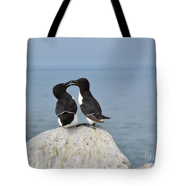 Razorbills In Love Tote Bag