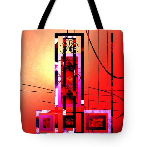 Tote Bag featuring the painting Re-cycled Art by Andrew Penman