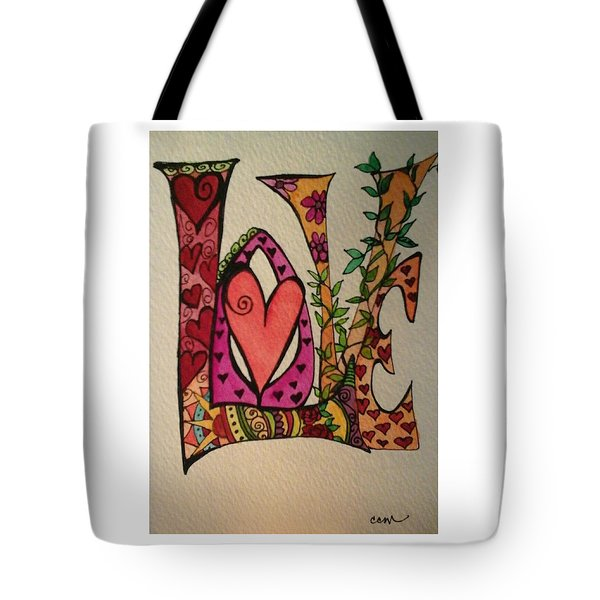 Reach For Love Tote Bag