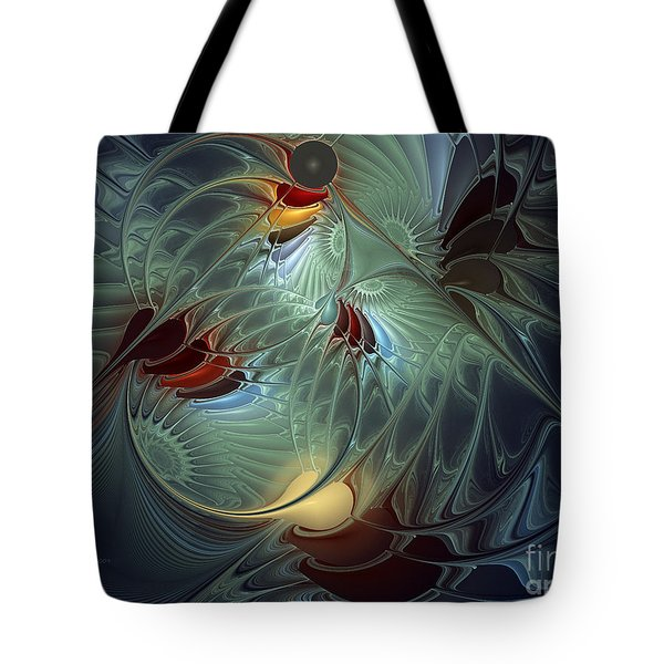 Tote Bag featuring the digital art Reach For The Moon by Karin Kuhlmann