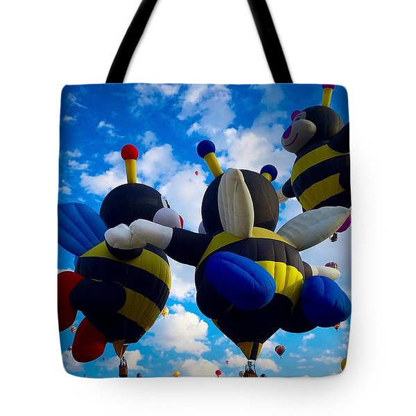 Hot Air Balloon Cheerleaders Tote Bag