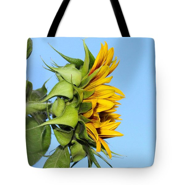 Reaching Sunflower Tote Bag