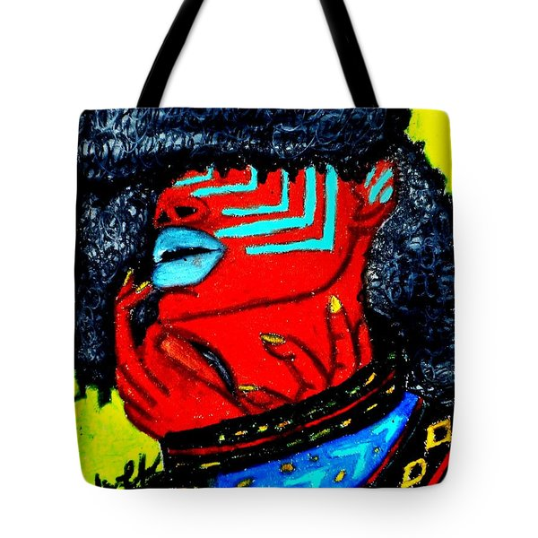 Tote Bag featuring the painting Reach Within by Tarra Louis-Charles