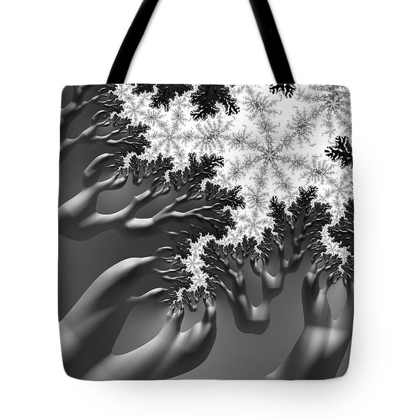 Tote Bag featuring the digital art Reaching by Michele A Loftus