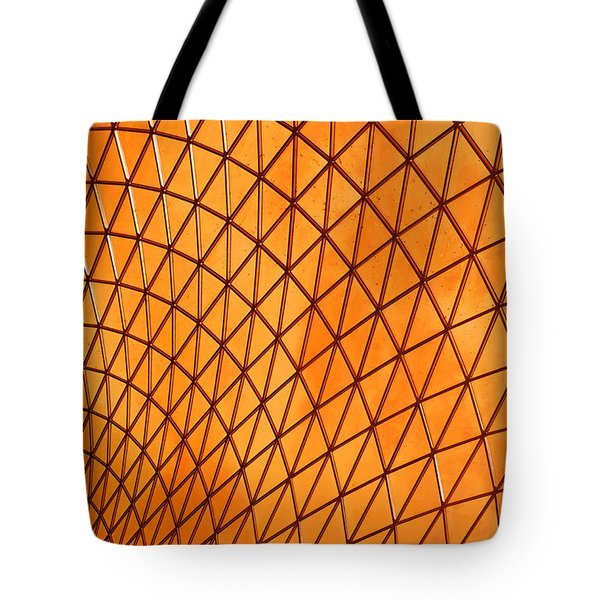 Tote Bag featuring the photograph Orange Glow by Elvira Butler