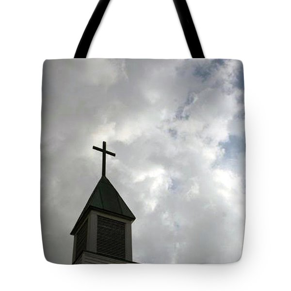 Reaching Steeple Tote Bag