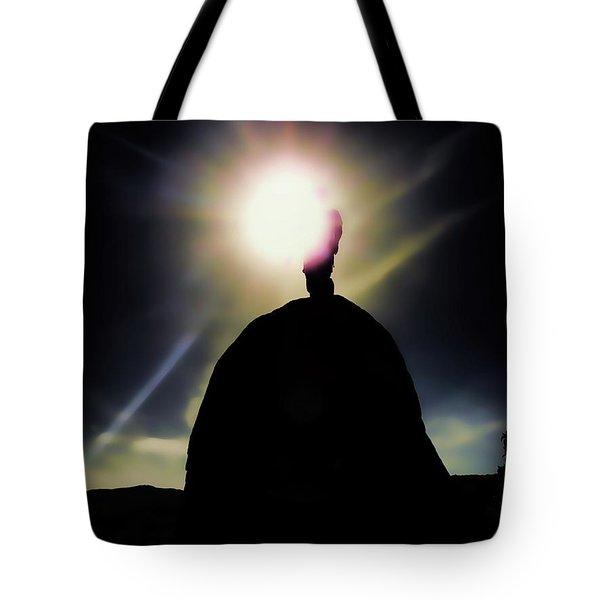 Reaching The Light Tote Bag