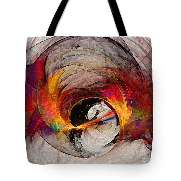Reaction Abstract Art Tote Bag