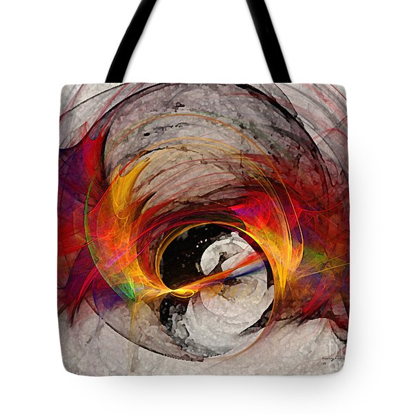 Reaction Abstract Art Tote Bag