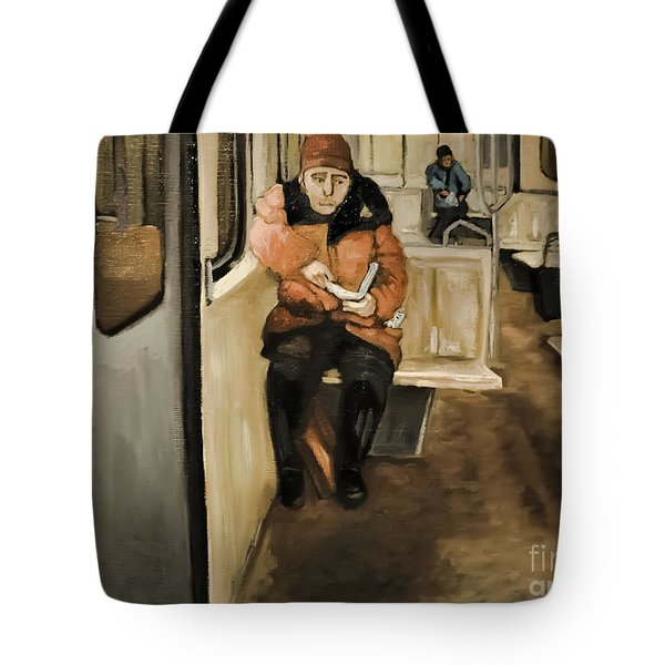 Reader On The Metro Tote Bag
