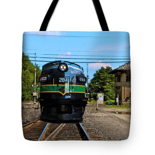 Tote Bag featuring the painting Reading 284  Train by Iconic Images Art Gallery David Pucciarelli