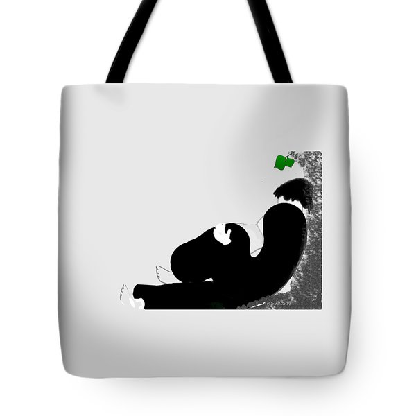 Tote Bag featuring the digital art Reading  by Asok Mukhopadhyay