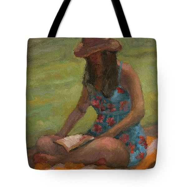 Reading At Jersey Valley Tote Bag