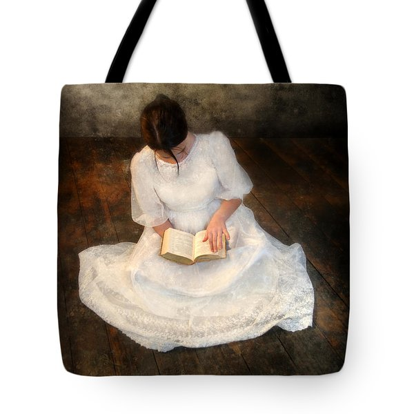 Reading  Tote Bag by Jill Battaglia