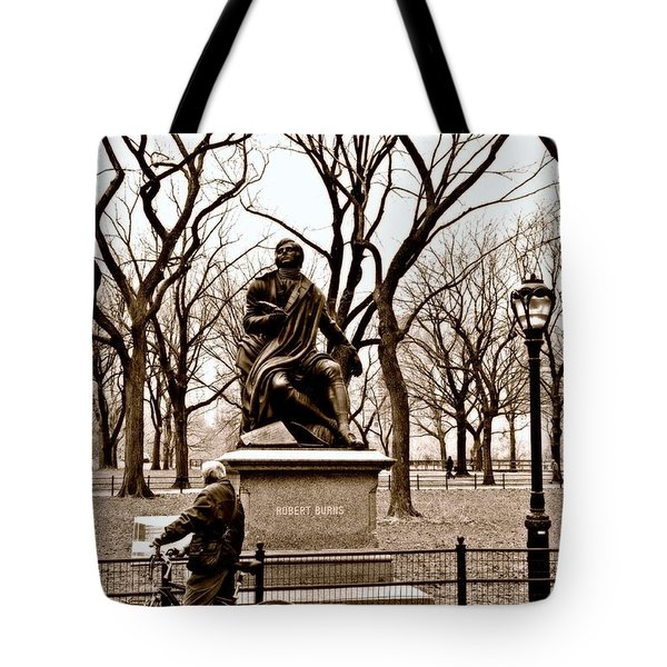 Reading Robert Burns Tote Bag by Randy Aveille