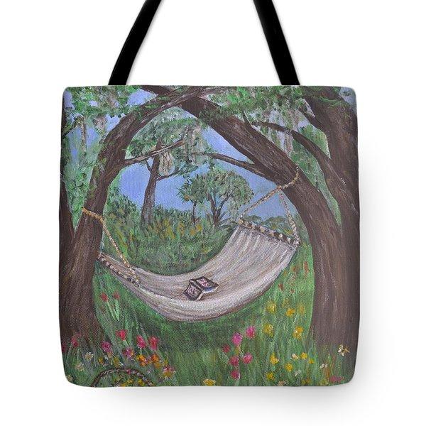 Reading Time Tote Bag by Debbie Baker