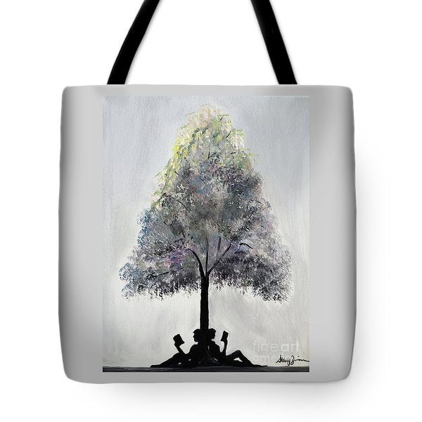 Reading Tree Tote Bag
