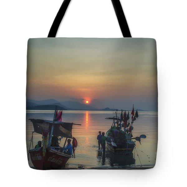 Ready For Night Fishing Tote Bag