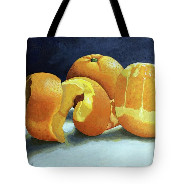 Tote Bag featuring the painting Ready For Oranges by Linda Apple