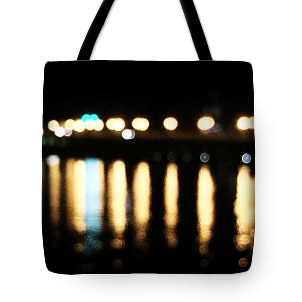 Tote Bag featuring the photograph Bridge Of Lions -  Old City Lights by LeeAnn Kendall