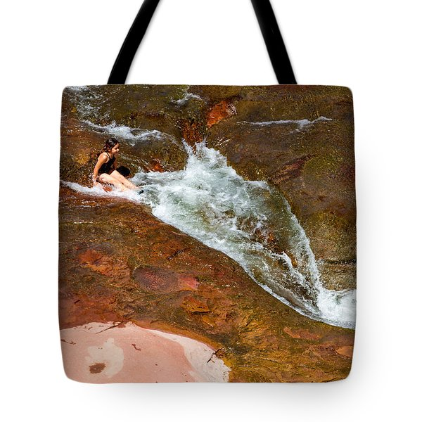 Ready For The Slide Tote Bag