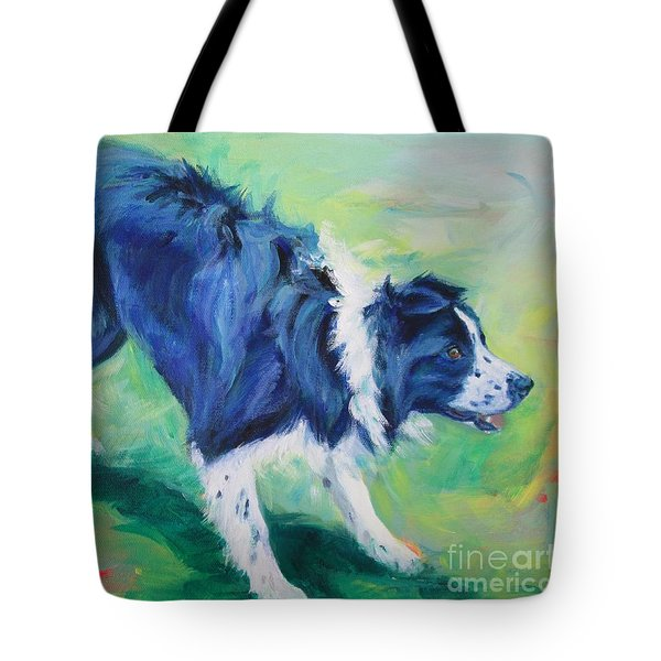 Ready To Fly - Border Collie Tote Bag